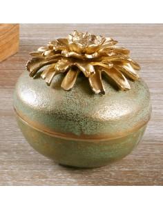 Caja Aluminio Flor Oro