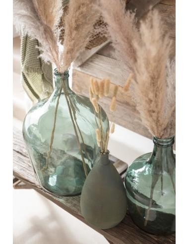 Jarron Vintage Crudo Ceramica Verde...